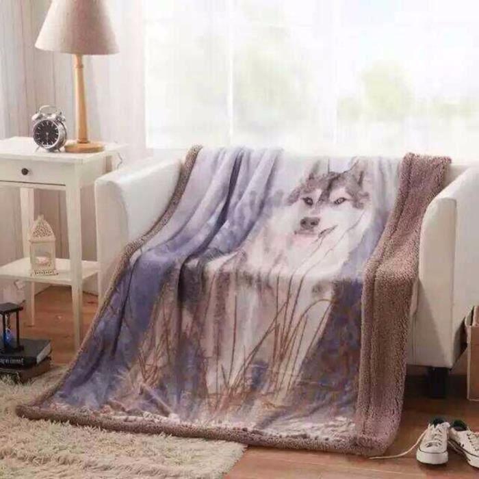 couverture polaire pour canapé-lit parure de draps polaire 130cm