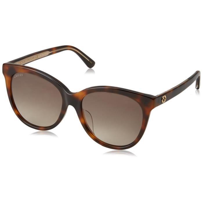 Gucci Femmes Lunettes de soleil Gg0081sk Avana-Avana-brun, 56 3NA6LW ... fd6d395795b0