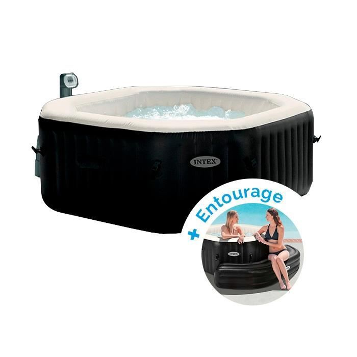 SPA COMPLET - KIT SPA Spa gonflable Intex PureSpa Jets et Bulles 6 perso