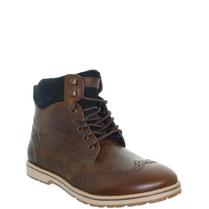 Boots Redskins Atex en cuir ref_cle40135-marron