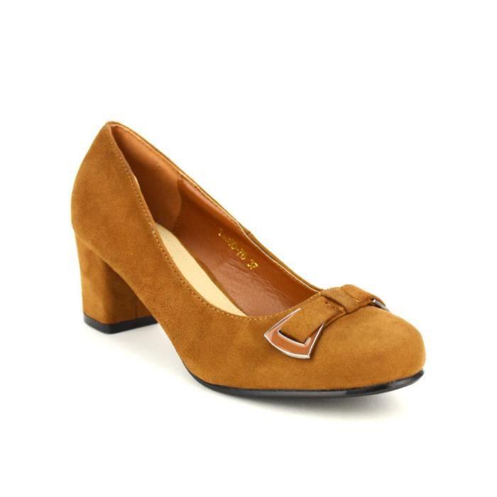 escarpin, Escarpins Caramel Chaussures Femme, Cendriyon