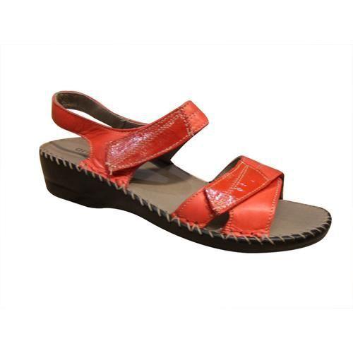 Sandales/pied-nu femme SIOUX velours rouge confort nmej2ulh
