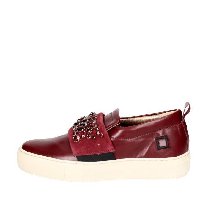 D.a.t.e. Slip-on Chaussures Femme Bordeaux, 37