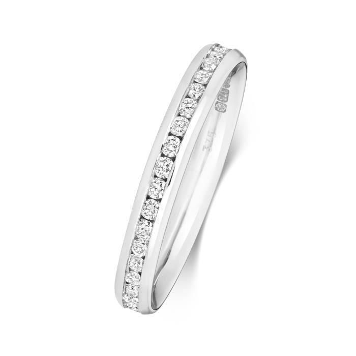 Bague de Mariage-Alliance Femme Eternité 2,7mm Platine 950 et Diamant Brillant 0.44 Carat G - SI1 31117
