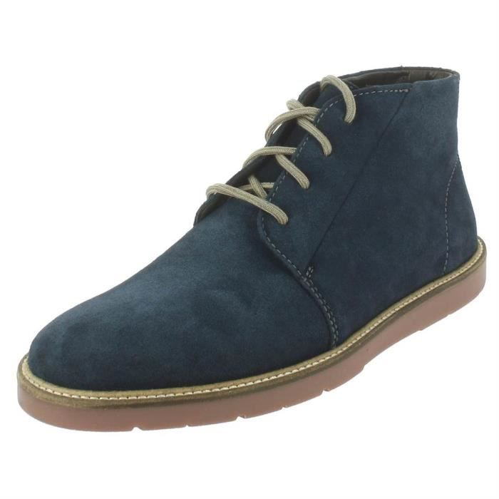 Bottines   boots grandin mid homme clarks grandin mid Bleu Bleu ... 1e2c1aec4695