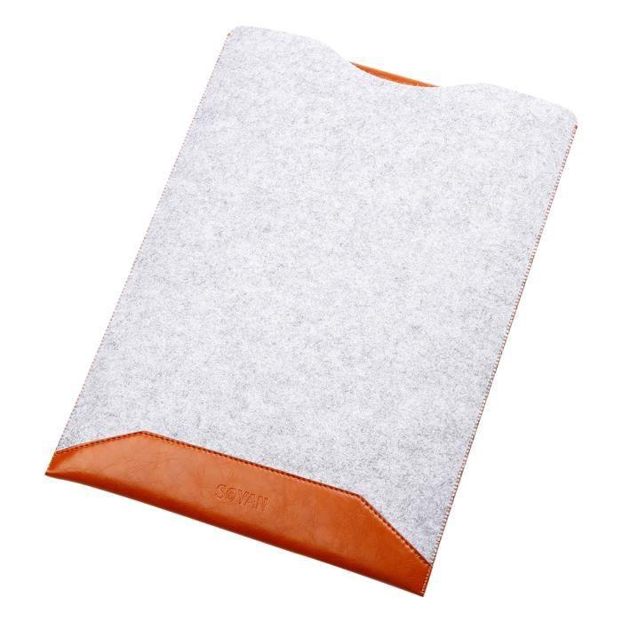 5db3fd2513 ... Pour Macbook air ordinateur portable - Marron. SAC À DOS INFORMATIQUE  11.6 pouces Laptop Sleeve Pochette Sacoche Housse