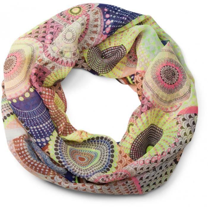 Echarpe tube - Femme - Motif ethnique 01016014 - Achat   Vente ... 3e86f8de320