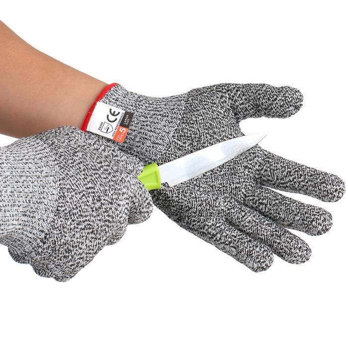 Equipement Et Materiel De Securite 1 Paire Gants Resistants Aux