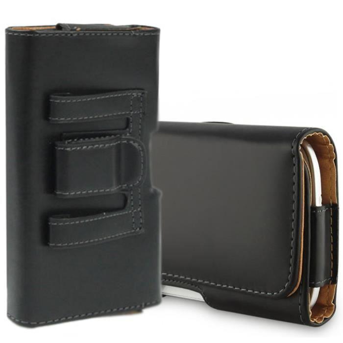 Asus Zenfone Laser ZCKL Max ZCTL Etui PU Haute Qualité - Porte telephone ceinture