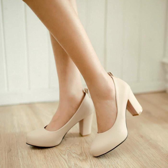 Femmes Chaussure Avec Bow été Cool Solide Décontracté élégant Club Mariage Soiree