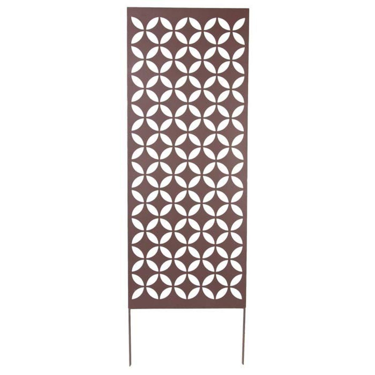 treillage d coratif m tal g om trique gris mat achat vente treille treillis treillage. Black Bedroom Furniture Sets. Home Design Ideas