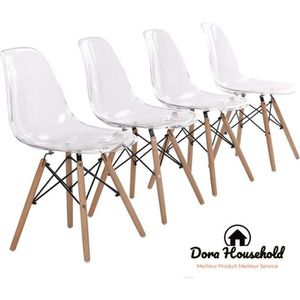 Chaises scandinaves marron achat vente pas cher for Siege salle a manger