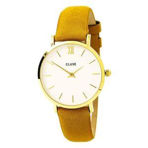 MONTRE Craze cluse cl30034 montre bracelet en cuir moutar