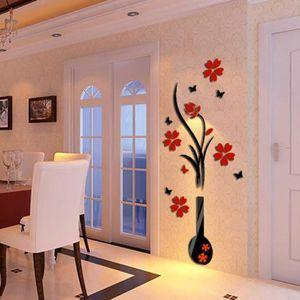 STICKERS Bricolage Fleur Vase Stickers Muraux Cristal Arcyl