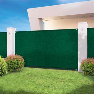 CLÔTURE - GRILLAGE Brise vue haute densité vert 1 x 10 m 300 gr/m² qu