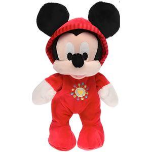 PELUCHE Peluche Mickey  En Grenouillere Rouge 28 Cm - Pyja