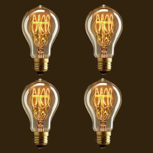 AMPOULE - LED 4x Ampoule Edison Incandescence E27 40W 220V Rétro