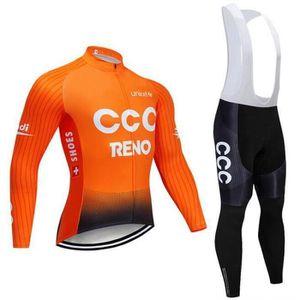 MAILLOT DE CYCLISME CCC Maillot cyclisme homme Manches longues pantalo