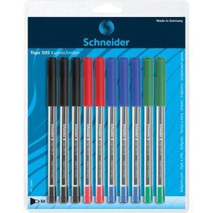 Stylo - Parure SCHNEIDER - Lot de 10 stylos à bille Tops 505 M -