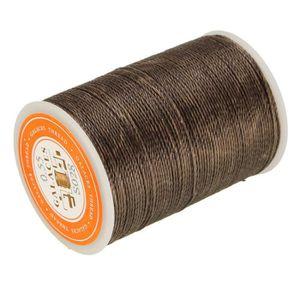 a6d238395c30 Bobine de Fil Plat Ciré 260M 0,8mm Ficelle Corde pour Cuir Maroquinerie  Bricolage Artisanat DIY Noir JNCH