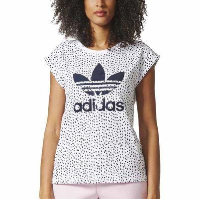 Vêtements femme T-shirts Adidas Originals Bf Roll Up Gris Gris ... e45c39c90de