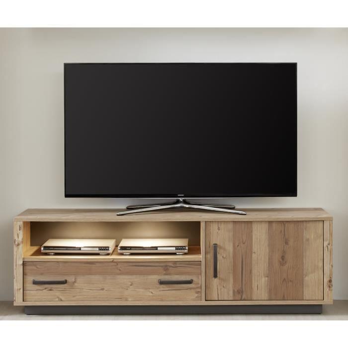 Lodge Meuble Tv Bas Industriel Décor épicéa L 161 Cm Achat