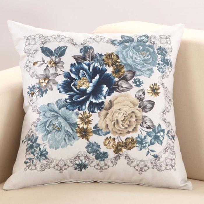 """Résultat de recherche d'images pour """"coussin fleur bleu"""""""
