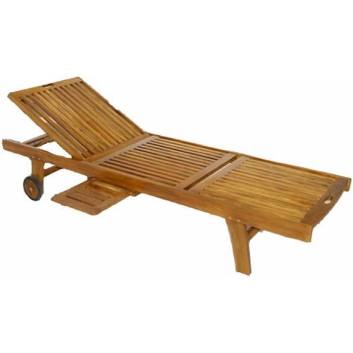 transat relax en bois d 39 acacia massif et tablette achat. Black Bedroom Furniture Sets. Home Design Ideas