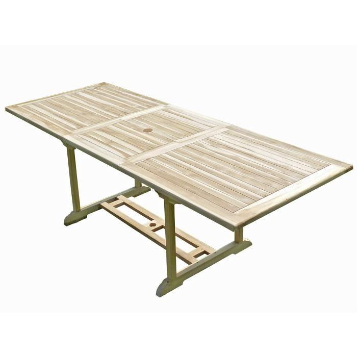 AMARA Table de jardin en teck 8 10 places - Achat   Vente table de ... 77ec5c26a4c4