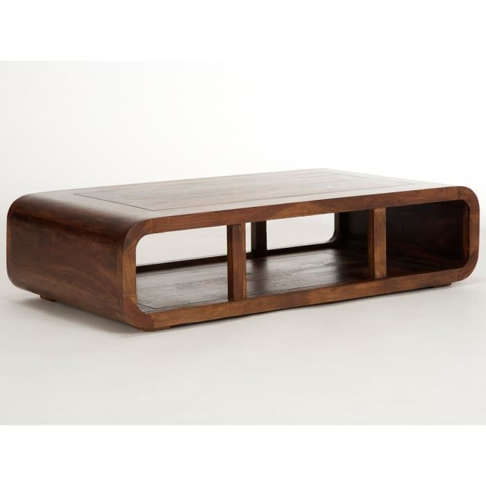 Table basse monrovia 120x60 en palissandre brun massivum for Table basse palissandre