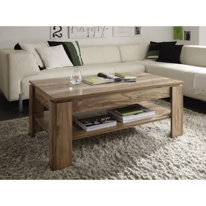 table de salon noyer achat vente table de salon noyer pas cher cdiscount. Black Bedroom Furniture Sets. Home Design Ideas