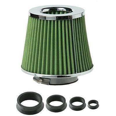 filtre air de remplacement universel 4 bagues chrome achat vente filtre a air filtre. Black Bedroom Furniture Sets. Home Design Ideas