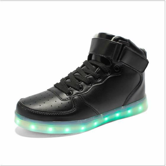 haut-dessus chaussures LED, chaussures de sport...