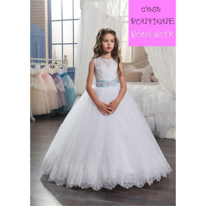 9431b2d2d1c ROBE Robes de Cérémonie Mariage Fille Enfant Dentele Ro ...