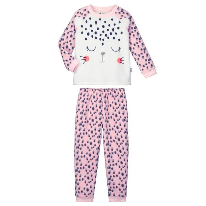 pyjama fille manches longues tout doux taille 10 ans 140 cm multicolor achat vente. Black Bedroom Furniture Sets. Home Design Ideas