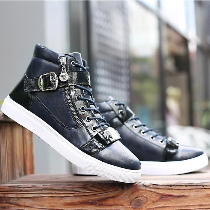 New High Fashion Casual Top pour les hommes Bottes d'hiver en cuir pour homme Souliers Casual Automne Respirant Zapatos