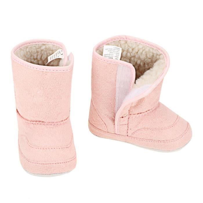 Bébé botte de neige occasionnels anti-dérapants doux chaud courte mignon taille 22 pour 9-12M couleur rose vOoj5kO
