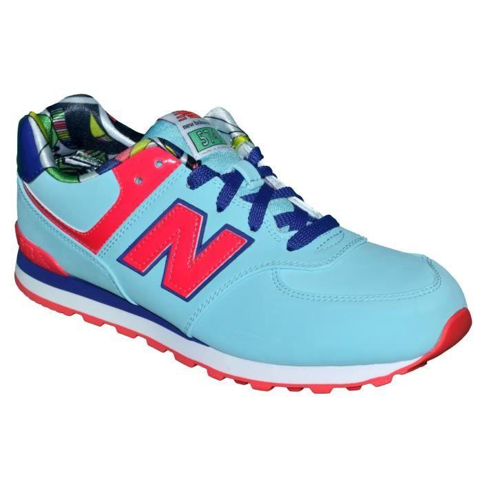 New Balance - Basket Sneakers - Femme - Nb 574 Tlg - Bleu Ciel Rouge Infrared Violet