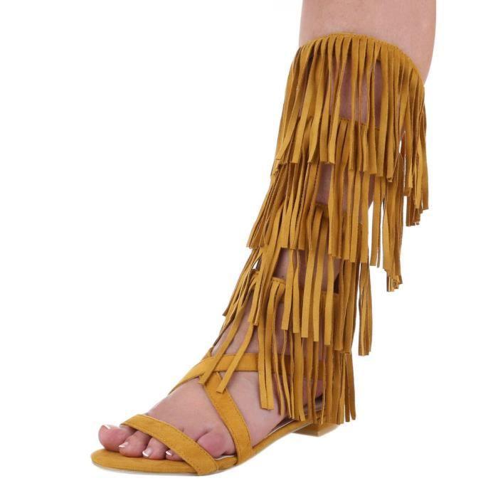 Femme sandale chaussure de Dianette Western Style effilé lanière