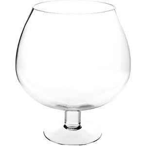 VASE - SOLIFLORE Vase en forme de verre sur pied - D 23 x H 26 cm -