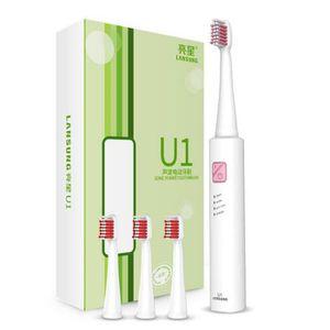 BROSSE A DENTS ÉLEC Couleur Blanc avec point rose Brosse à dents USB c