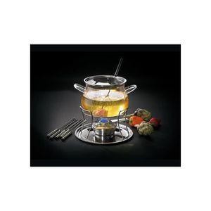 SERVICE À FONDUE Service à fondue en verre 10 pièces