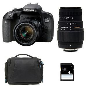 APPAREIL PHOTO RÉFLEX CANON EOS 800D + EF-S 18-55 mm f/3.5-5.6 IS STM+ S