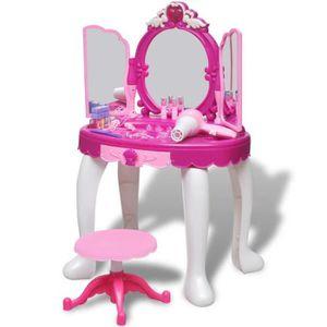 COIFFEUSE Coiffeuse de jouet avec lumière-son et 3 miroirs p