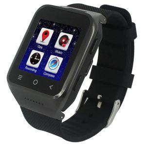 Téléphone portable Montre connectée noir Smartwatch Téléphone, 512 Mo