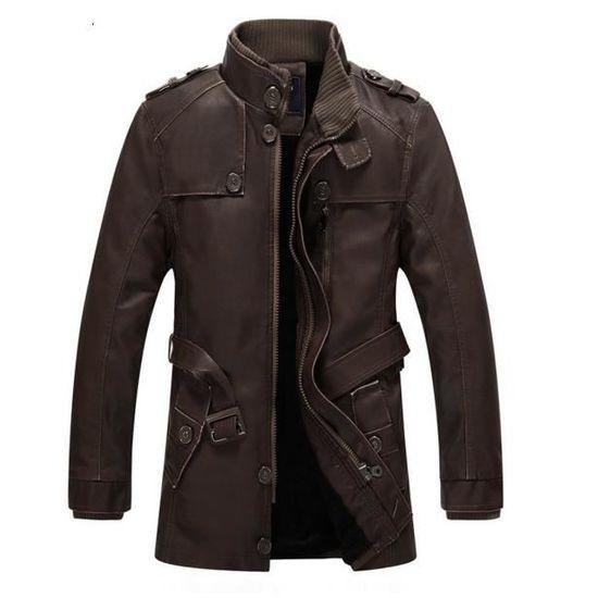 En 6 Outaking 3 Jacket Homme Couleurs Tailles Pour Casual Manteau Moto Slim Mode Vest Cuir Blouson Hiver BqZERw