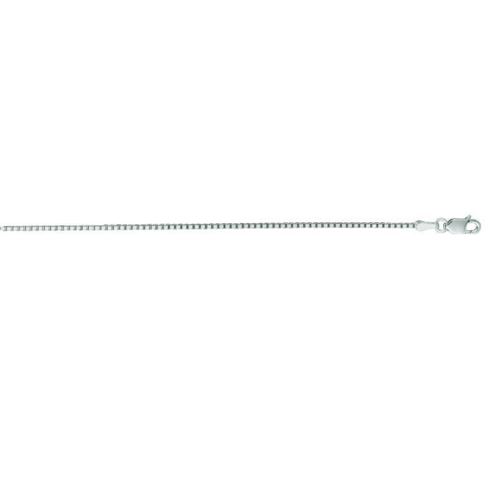 Or blanc 14 carats 1,2 mm Collier Chaîne - 16