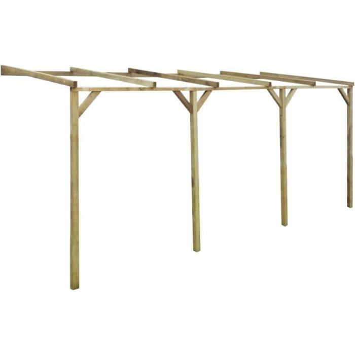 Arches Treillages Tonnelles Et Pergolas De Jardin Pergola Murale En Bois 2 X 5 M