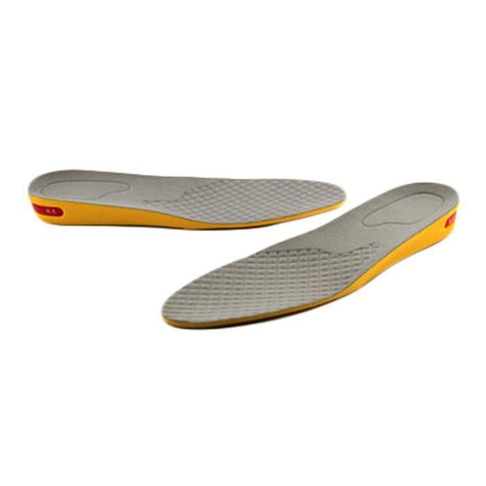 1 Layer 2 cm Hauteur Augmenter Semelle Chaussures Pad pour homme, Gris