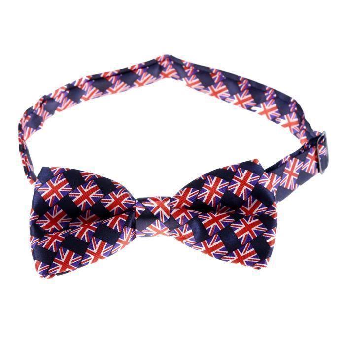 2019 real meilleures offres sur bas prix Cravate avec motif de Drapeau britannique Bleu avec rouge pour les hommes  KE77D1